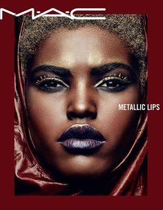"dabandamodels: ""Amilna Estevão @ MAC Cosmetics Metallic Lips Summer 2017 campaign """