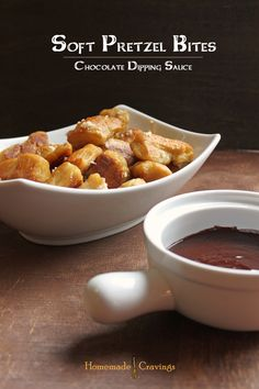 Soft Pretzel Bites with Chocolate Dipping Sauce