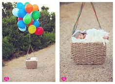 basket and balloons: reminds me that even though i want to keep it simple...there is always room for fun and whimsy