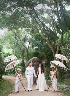 Dreamy Bali destination wedding: http://www.stylemepretty.com/destination-weddings/2015/09/16/romantic-elegant-bali-wedding/   Photography: Blush Photography - http://blushphotography.ca/