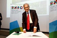 Expo Milano 2015, il Premio Nobel   Amartya Sen firma La Carta di Milano