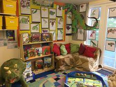 Dinosaur book corner