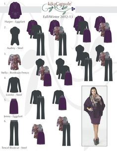 Capsule wardrobe - purples and black
