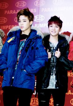 They switched expressions. Jiminie is pretty and yoongs is so cute when he smiles. Kkaebjjang!
