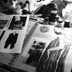Fashion Sketchbook - fashion design research & print pattern development; Sketchbook Layout, Sketchbook Pages, Sketchbook Inspiration, Sketchbook Ideas, Journal Layout, Illustration Techniques, Fashion Illustration Sketches, Fashion Sketches, Fashion Drawings