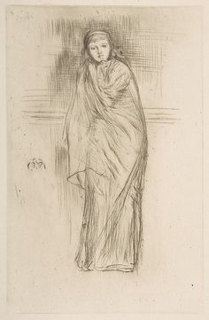 The Model Resting / James McNeill Whistler / 1870 / drypoint
