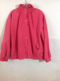 5249e04c136 Women s Vintage Jacket Halston For Misty Harbor Pink 14 Reg Rain Stain  Repellant  HalstonforMistyHarbor