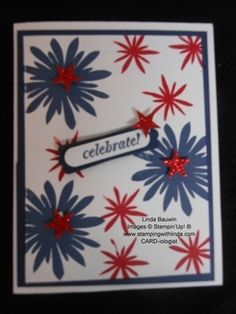 Celebrate 4th of July Card by Linda Bauwin Stampin' Up!