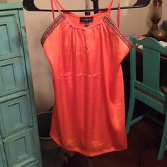 Orange Tribal Tank - NWT Never worn. This tank is cute and easy to layer! The Limited Tops Tank Tops