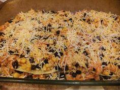Easy Healthy Chicken Enchilada Bake Recipe - May be the Cinco de Mayo dinner recipe Healthy Chicken Enchiladas, Chicken Enchilada Bake, Enchilada Casserole, Enchilada Lasagna, Great Recipes, Dinner Recipes, Favorite Recipes, Dinner Ideas, Healthy Cooking