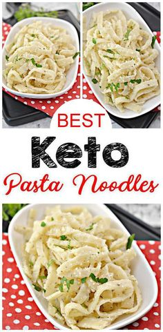 Keto Pasta Noodles {EASY} keto recipe for the BEST low carb pasta noodles. Low carb pasta that are simple & delicious. Noodles for pasta for ketogenic diet. Make keto fettuccine Alfredo, butter noodles, low carb spaghetti & meatballs & more. Keto Pasta Recipe, Pasta Recipes, Low Carb Recipes, Diet Recipes, Healthy Recipes, Sauce Recipes, Vegetarian Recipes, Recipies, Low Carb High Fat