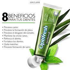 Con aceites herbales de menta, hinojo, eucapilto y romero, la nueva Optifresh System 8 te da 8 beneficios y 12hrs. de protección