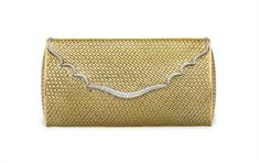 59498c809a49 A DIAMOND, GOLD AND PLATINUM EVENING BAG. Vintage PursesLeather ClutchEvening  ...