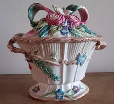 """Fits and Floyd Woodland Spring candy dish with lid. 7""""x7""""x4"""" ✔️"""