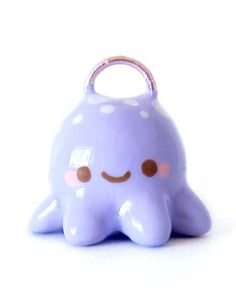I found this on www.oborocharms.com #charm #blue #octopus #necklace charm #kawaii