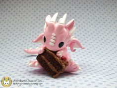 Chocolate Cake Dragon by whitemilkcarton.deviantart.com on @deviantART