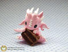 Chocolate Cake Dragon by whitemilkcarton.deviantart.com on @deviantART