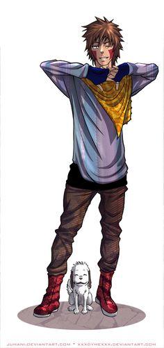 Naruto Fash Series: Kiba by Juhani on deviantART