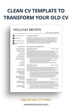 Modern simple CV template for students package so you can freshen up your CV while still allowing you to look professional! This student CV template will help you to stand out and get noticed. You also get a fully matching cover letter template, references page, and letterhead paper template. Fully and easily customisable in Microsoft Word.