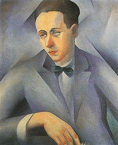 Tarsila do Amaral, Retrato Azul ( Sergio Milliete )