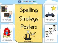 Spelling Strategy Posters - PDF file20 page file designed by Clever Classroom. 18 full page strategy posters. $2.25