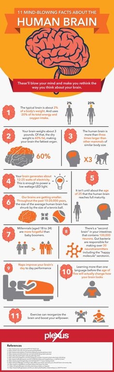 """11 Mind Blowing Facts about the Brain - here's one: """"exercise can reorganize the brain and boost your willpower"""". I NEED that!"""