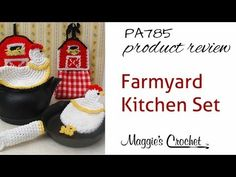 Maggie's Crochet · Farmyard Kitchen Set Crochet Pattern