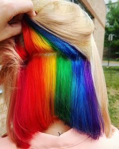 'Hidden Rainbow' Hair Is A Trend You Won't See Coming | HuffPost