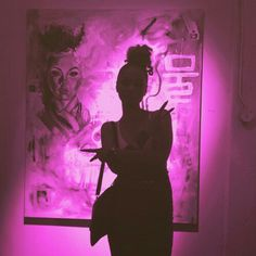 Black shadow with pink lady. Boujee Aesthetic, Black Girl Aesthetic, Aesthetic Collage, Purple Aesthetic, Aesthetic Pictures, Bedroom Wall Collage, Photo Wall Collage, Tumblr Neon, Rauch Fotografie