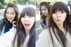 Jihyun and HyunA
