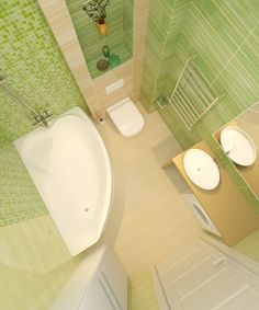 Санузел в квартире 48м2. Ванная