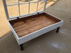 Window shadow box coffee table - rustic coffee tables - coffee table with…