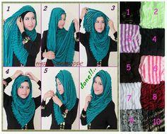 shawl tutorial style tutorial, Street hijab how to wear hijab - Hijab
