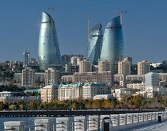 "Baku capital of Azerbaijan  ""Frame Towers""  / HOK"