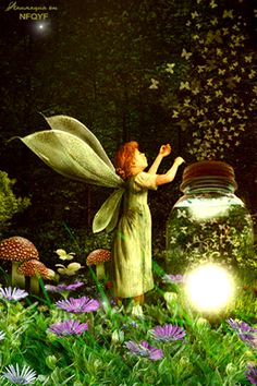 A sparkly, breezy night in the Fairy Garden...  ~~  Houston Foodlovers Book Club
