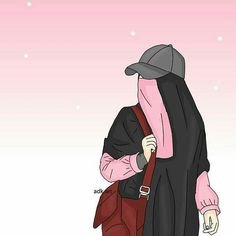 Hijab Drawing : I love hijab . Wallpaper Hp, Islamic Wallpaper, Forest Wallpaper, Muslim Pictures, Islamic Pictures, Girl Cartoon, Cartoon Art, Best Facebook Profile Picture, Anime Sisters