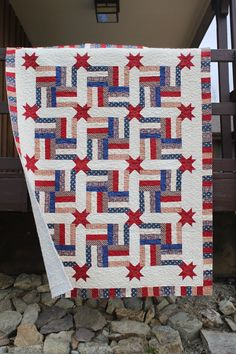 This is a Great look for a Quilts of Valor project. It has the proud red, white, and blue colors but with just a little difference that makes it more unique. (from Stitch by Stitch)
