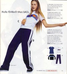 Adidas knock-off track pants. (No need to change for gym class!)