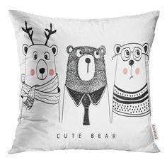 Baby Club, Bear Girl, Cute Bears, Panda, Print Patterns, Pillow Cases, Cushions, House Design, Throw Pillows