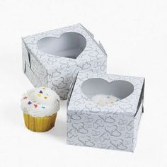 1 X 12 Two Hearts Cupcake Boxes ** Awesome product. Click the image at  : Baking tools