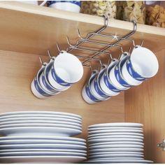 Colgador para tazas interior armario, aprovecha el espacio al máximo en tu cocina.