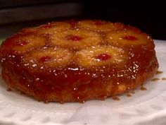 Pineapple Upside-Down Cake from FoodNetwork.com -  122 people rated and 5 stars.  Sweets for the sweet.