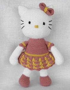 Amigurumi, Hello Kitty, Crochet Pattern, Hello Kitty Doll Pattern