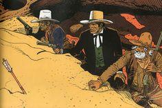 Dimensions : 70 x 50 - W. Long John Silver, Sitting Bull, Jean Giraud, Character Poses, Character Concept, Navajo, Moebius Art, Graphic Novel Art, Western Comics