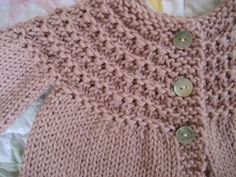 DeLightful NannyGram ~ Classic Hand Knit Baby Sweater