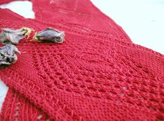 """free... Openwork Diamond Knitted Scarf... """"size 2 needles were used... knit with Aunt Lydia's mercerized cotton thread #10... the thread one would use to make doilies... this scarf is very detailed. It took a while but was worthall the time it took! ;) """""""