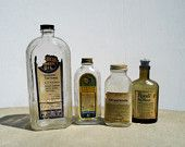 Vintage Bottles, Antique Bottles, Medicine Bottles, Art Deco Glass, Royall Bay Rhum, Pharmacy Bottles
