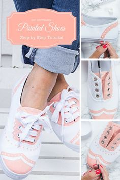 Upcycling DIY- Paint your shoes with acryl paint for a whole new look