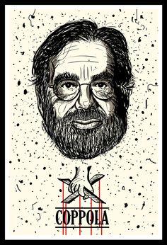 Best Cinema Directors by Fulvio Obregon, via Behance Famous Movie Directors, Cinema Movies, Cult Movies, Film Movie, Best Director, Film Director, Cinema Posters, Film Posters, Badass Movie