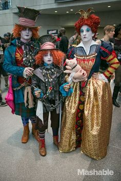 Me and my boys as: Battle Hatter, Demitasse and Red Queen at NYCC 2014. Costume credit: Daniel Schmidt